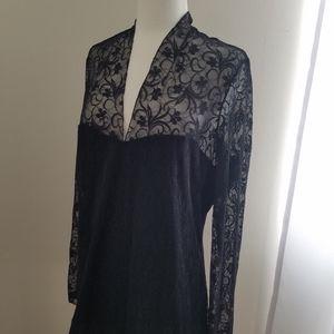 Venus Black Lace - EUC - Size XL